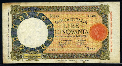 Italy 50 Lire banknote currency money images