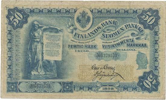 Paper Money Finland Russia 50 markkaa - 1898 issue.|World ...