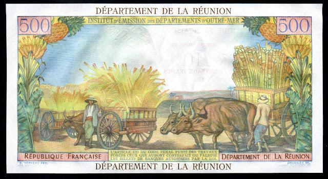 Paper Money REUNION 10 Nouveaux Francs
