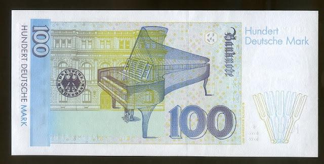 Germany Paper Money currency 100 Deutsche Mark Deutsche Bundesbank