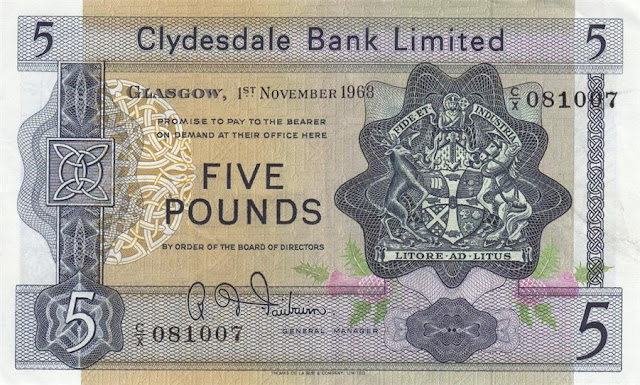 Clydesdale Bank British Pounds