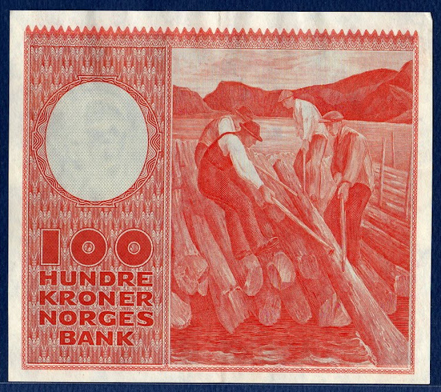 Norway money currency Norwegian krone 100 Kroner banknote