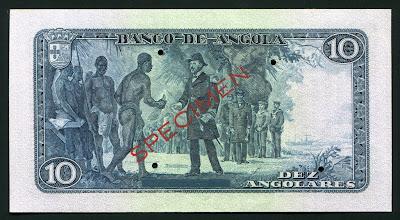 Angolan bank notes 10 Angolares banknote