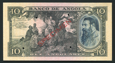 Angola paper money 10 Angolares banknote