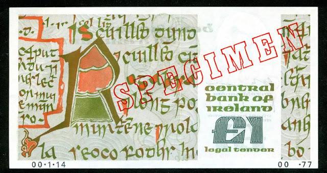 Currency of Ireland Irish pound banknote world paper money