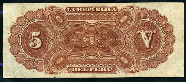 Peru  5 Soles banknote Notafilia Numismática collecting paper money Papiergeld billete