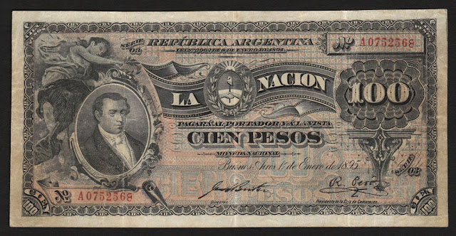 Argentina currency money 100 Pesos Banknote