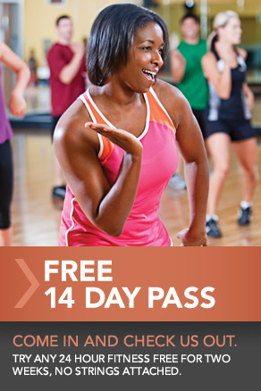FREE 14 Day Pass to 24 Hour Fitness