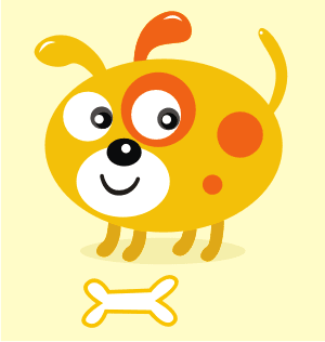 Download Vector: Simple Cute Dog