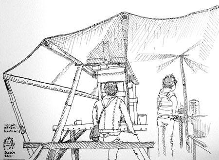 Sketch di kucingan dekat paragon city