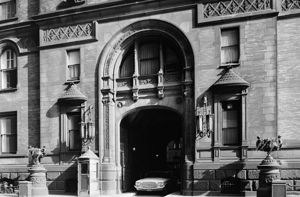 the dakota the dakota building entrance circa 1955. Black Bedroom Furniture Sets. Home Design Ideas
