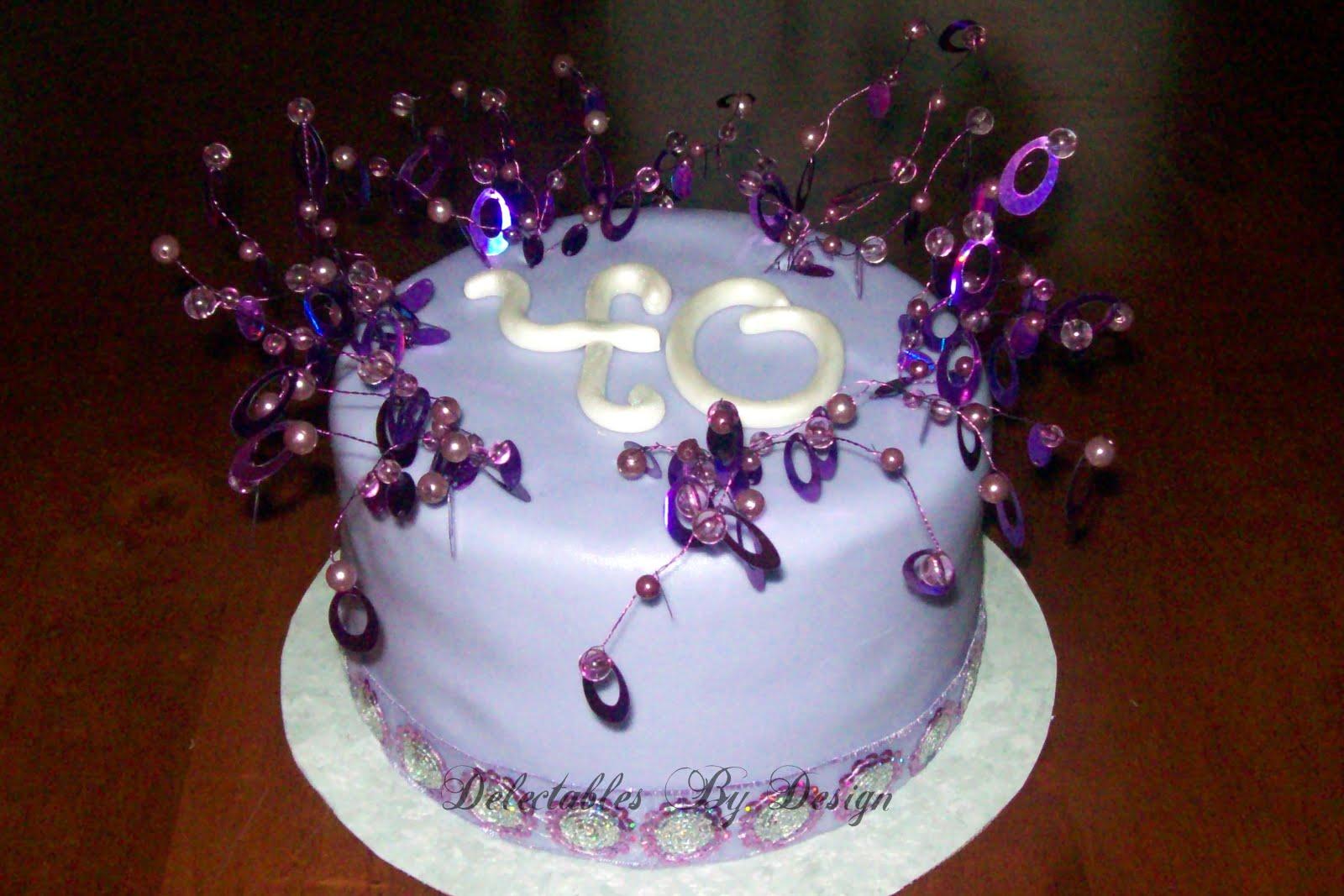 Cake Designs For 40th Birthday