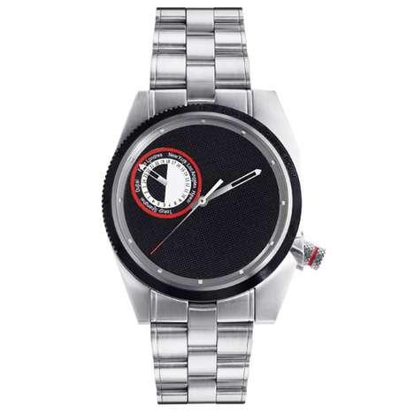 """49730884a66 Um relógio simples e sofisticado que leva ao pé da letra o ditado """"Menos é  Mais"""". Mantendo o mínimo possível de detalhes"""