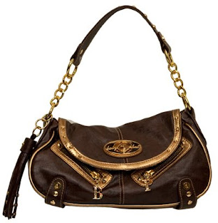 Baby Phat Bag New With Tags Color Is Brown Withgold Trim Measures 9 Long 4 Wide 5 Tall Drop Logo On Front And Back