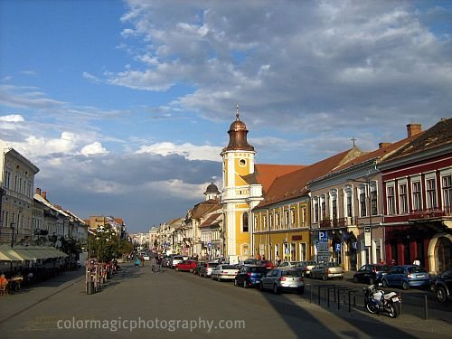 Beautiful clouds on the sky-Hero's Avenue in Cluj Napoca