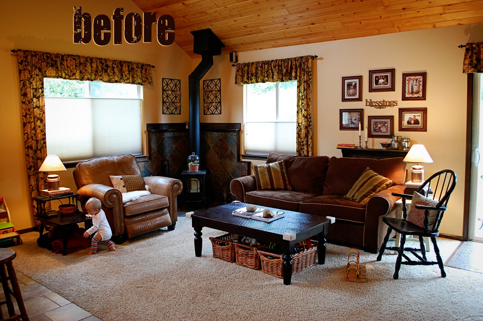 Will work for decor reader poll - Living room with fireplace ...