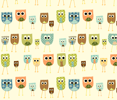 Owl Background Vintage...