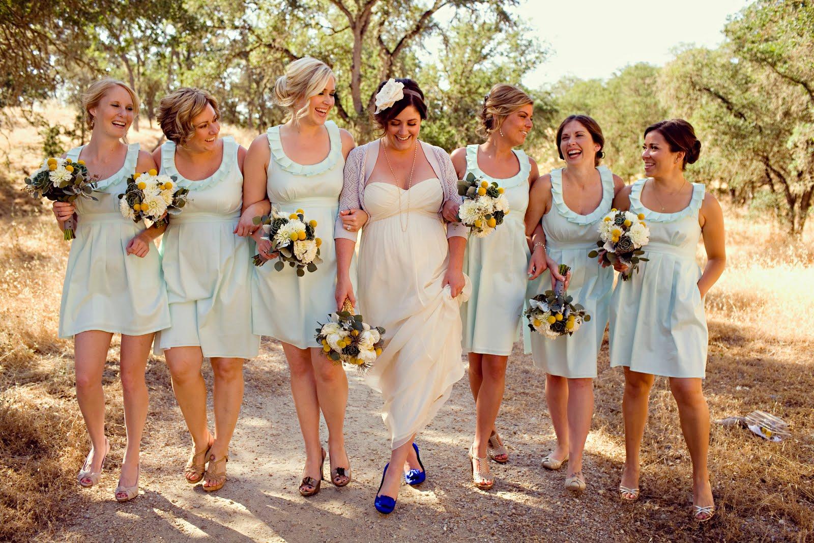 Independent Designer: Real Wedding! Bridesmaids In MINT