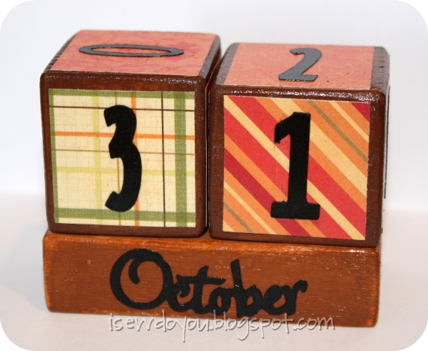 I Sew, Do You Make a Fall Perpetual Calendar {tutorial}