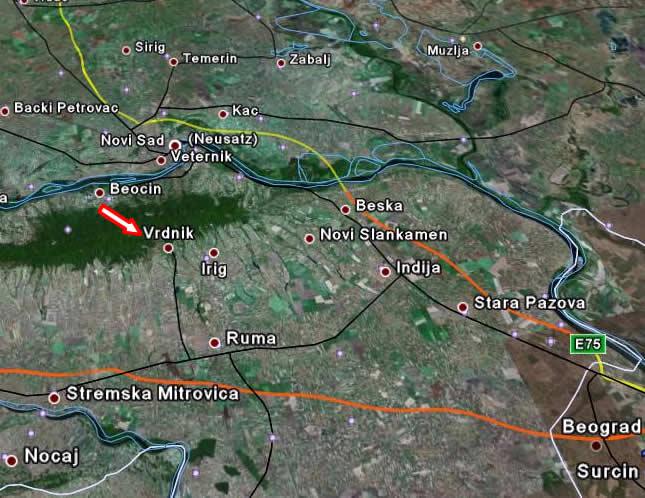 vrdnik mapa Banje u Srbiji vrdnik mapa