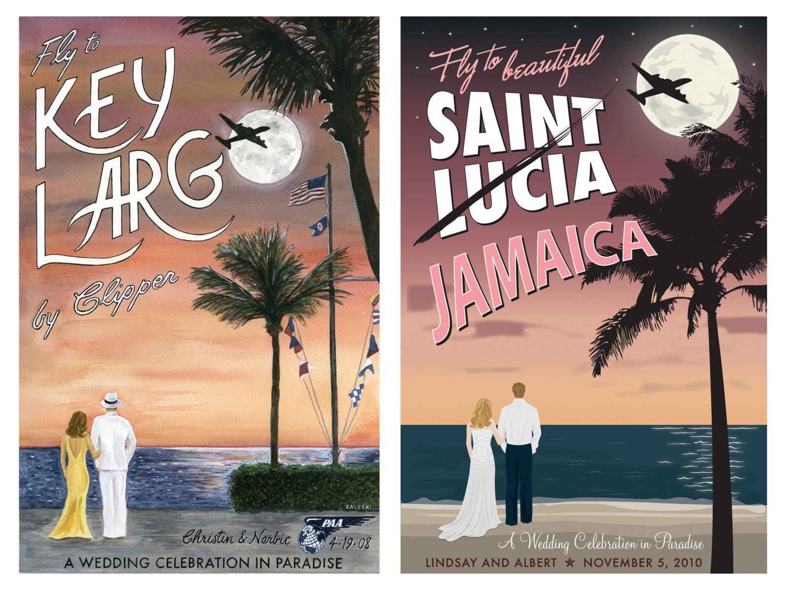 Destination Wedding Travel Posters