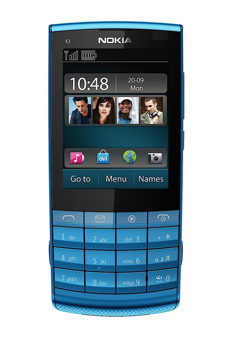 fuego corner nokia x3 02 nokia first with touch screen and keypad. Black Bedroom Furniture Sets. Home Design Ideas