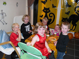 group of children at halloween