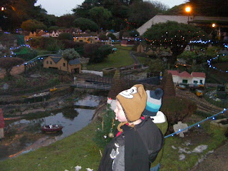Model Village at night, lit up
