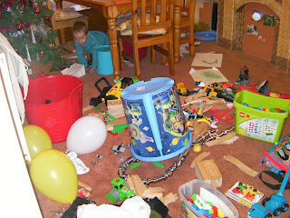 destroyed playroom, every toy you own in a pile