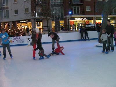 nylon plastic surface artificial ice rink gunwharf portsmouth