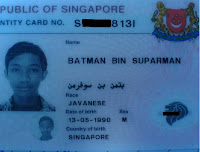 batman bin superman ID card