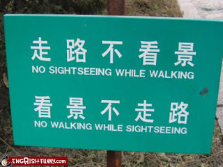 funny signpost, no sightseeing