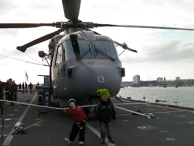 helicopter on deck