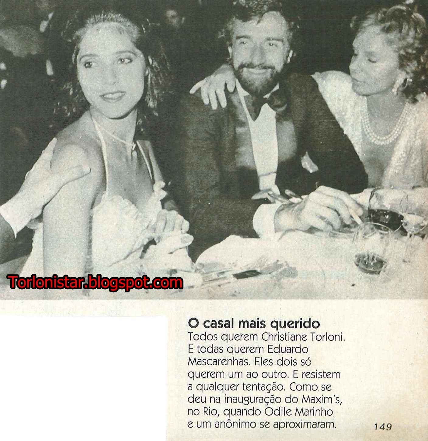 O casal mais querido : Christiane Torloni e Eduardo