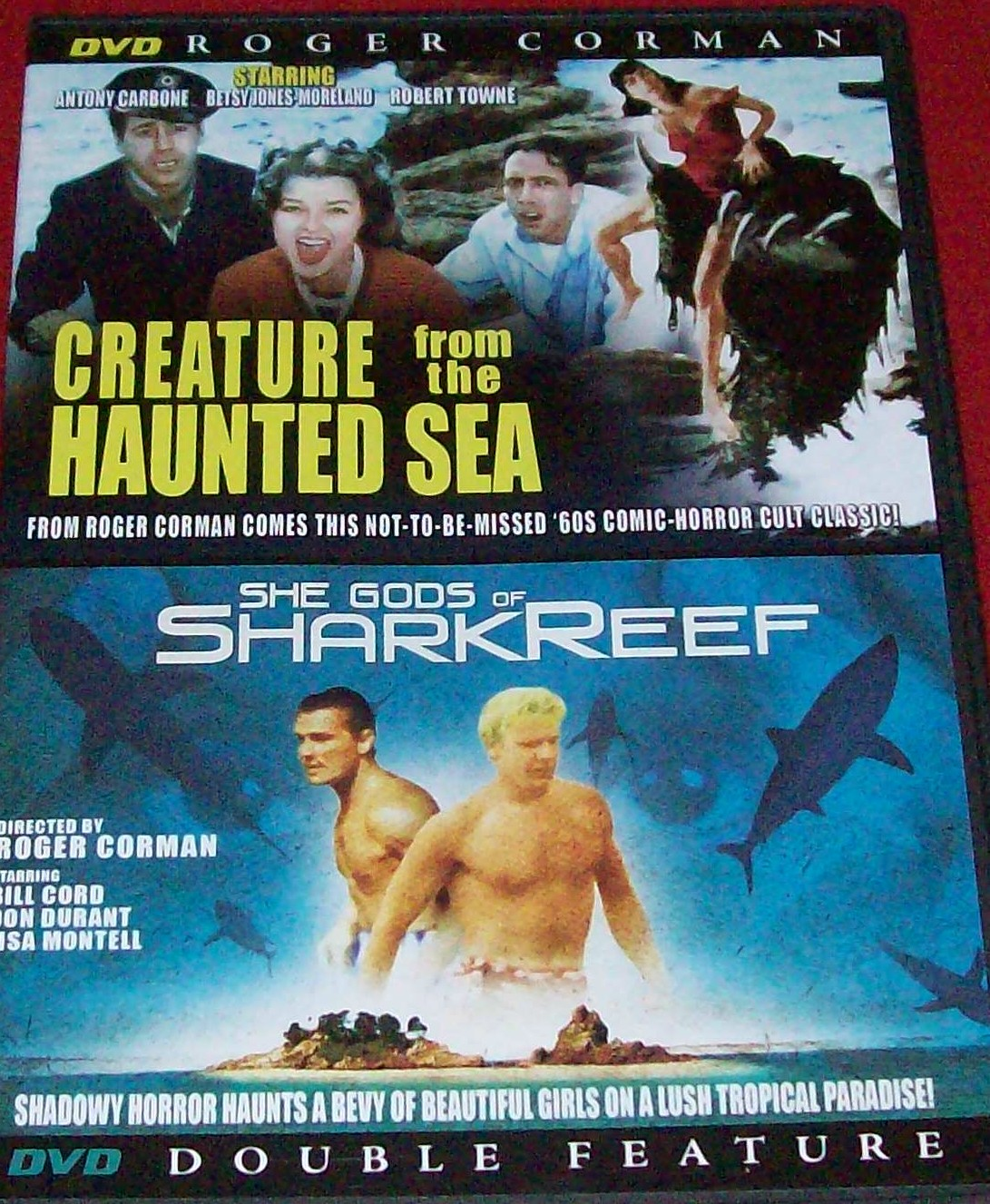 ... of the Shark Reef ($1.00) The bargain racks seem to overflow with  double features like this, with public domain movies put out cheaply (see  Cock Fighter ...