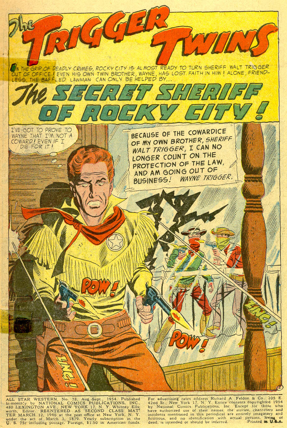 Read online All-Star Western (1951) comic -  Issue #78 - 3