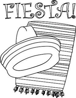 Printable Coloring Book Pages: Fiesta Coloring Fun