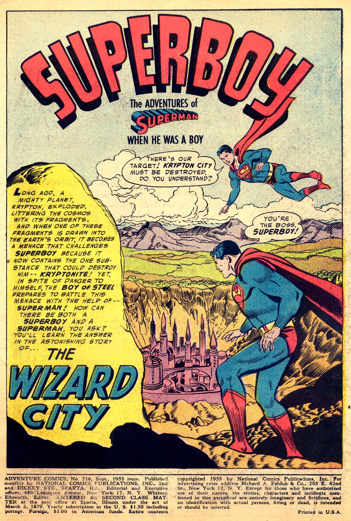 Read online Adventure Comics (1938) comic -  Issue #216 - 3