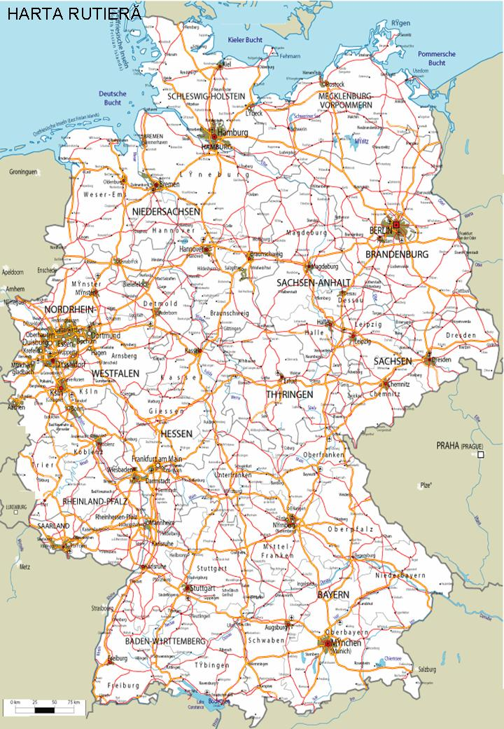 Descoperalumea Descovery World Harta Rutieră Germania Road Map