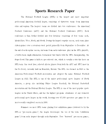 Football research paper