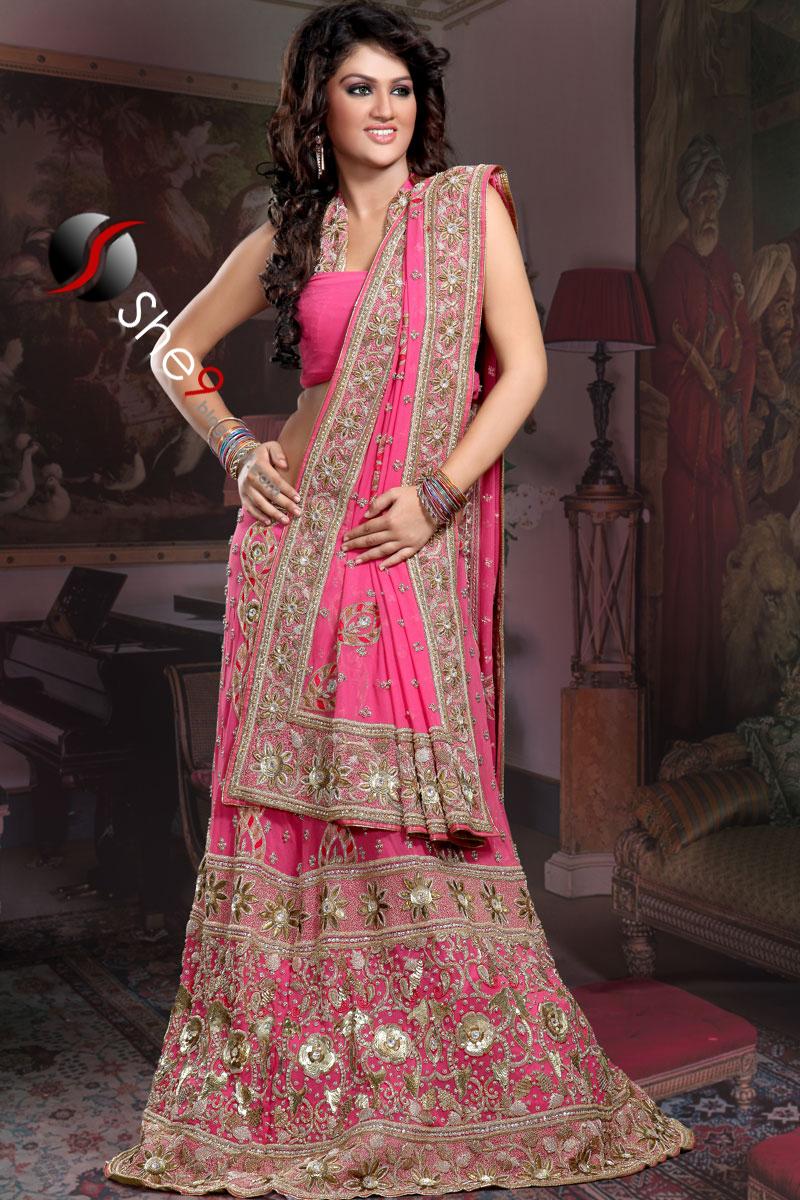 lehenga choli chic parties dress lehnga she9 collections pink