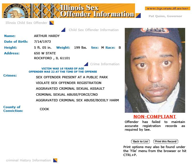 Illinois sex offender web site final, sorry