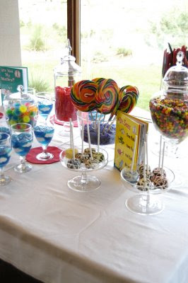 Dr. Seuss baby shower candy buffet