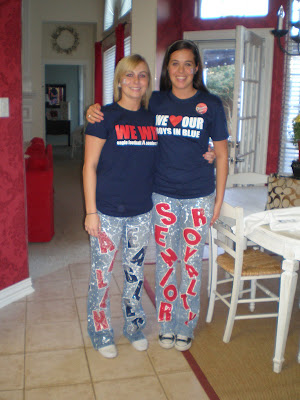 Senior pants, homecoming, Allen high school, mums