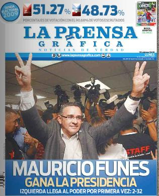 Historico Gane de la Izquierda en El Salvador, se da enmedio de elecciones pacificas y muy transparentes.