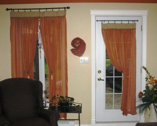 Confection lyne raymond rideaux pour porte vitr e et Rideaux pour porte