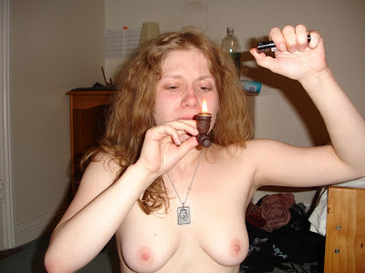 Crack whore want to smoke before she sucked the black dick 10