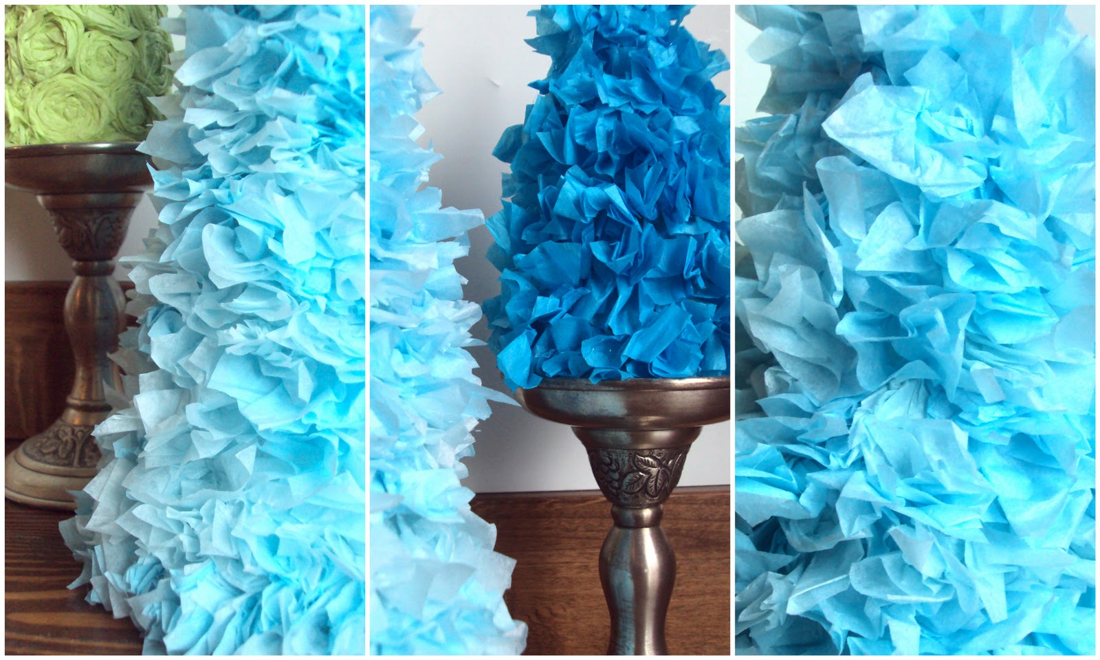 Spunky Junky: {Tutorial Tuesday} Tissue Paper Christmas Trees