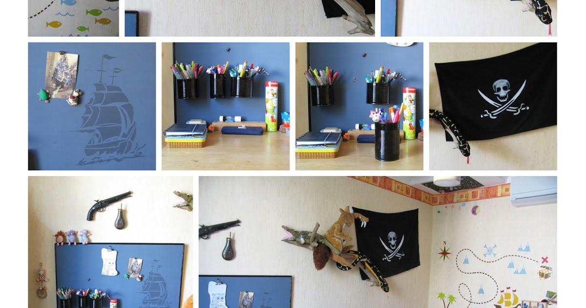 ma chambre claire une d co pirate. Black Bedroom Furniture Sets. Home Design Ideas