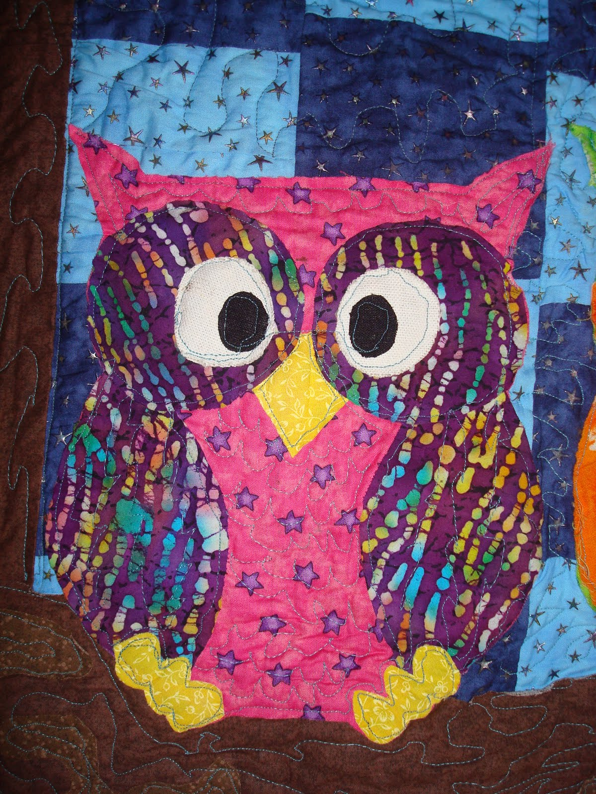 Hectichousehold The Owl Quilt Comes Together Free